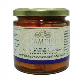 Campisi - Tuniak v olivovom oleji s rajčinami 220g